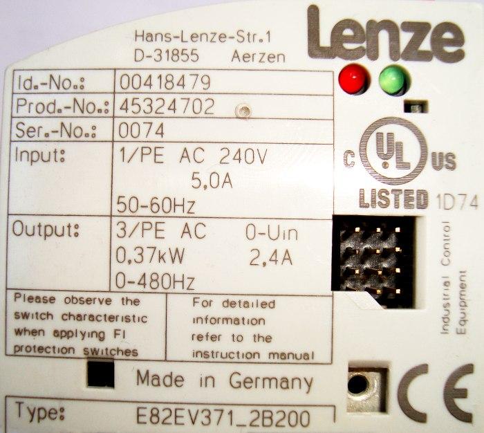 SHOP, Kaufen: LENZE E82EV371_2B200 FREQUENZUMFORMER