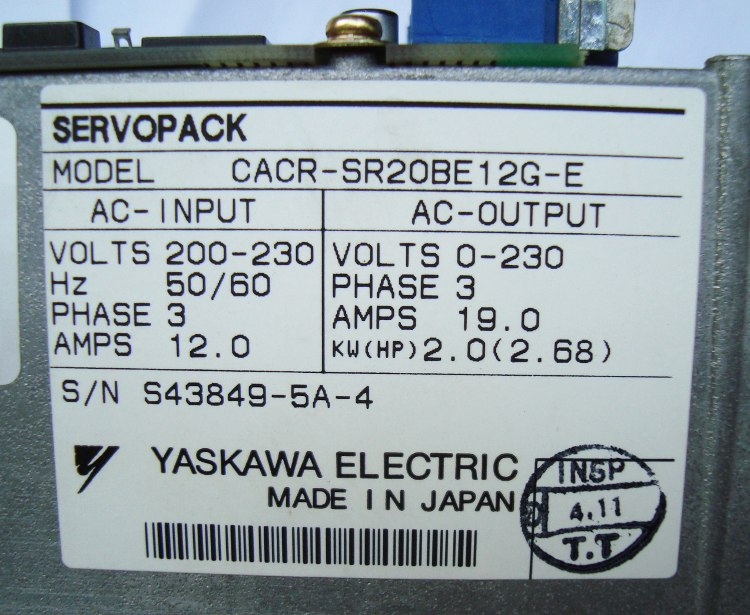 SHOP, Kaufen: YASKAWA CACR-SR20BE12G-E FREQUENZUMFORMER