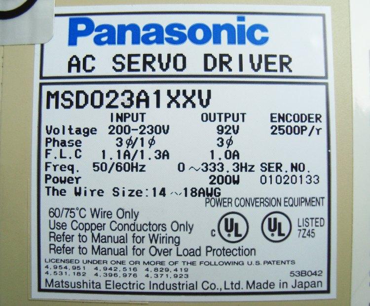 SHOP, Kaufen: PANASONIC MSD023A1XXV FREQUENZUMFORMER
