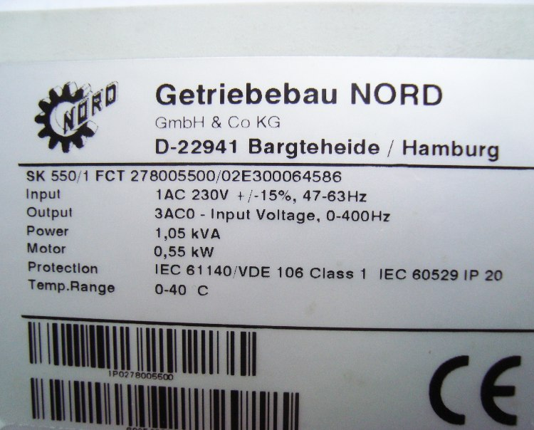 SHOP, Kaufen: GETRIEBEBAU NORD SK550/1FCT FREQUENZUMFORMER