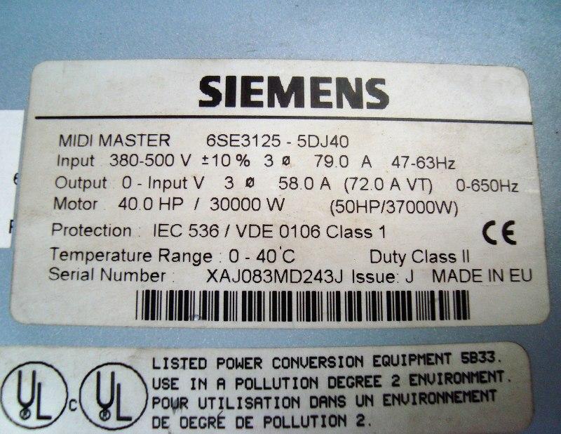 SHOP, Kaufen: SIEMENS 6SE3125-5DJ40 FREQUENZUMFORMER