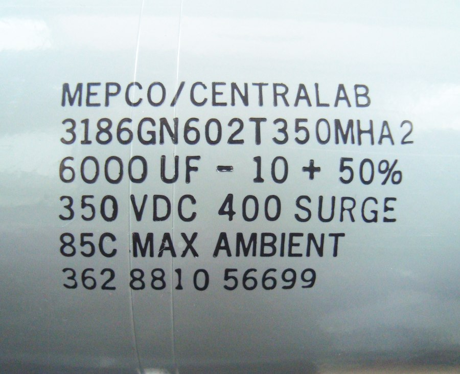 VORSCHAU: MEPCO 3186GN602T350MHA2 KONDENSATOR