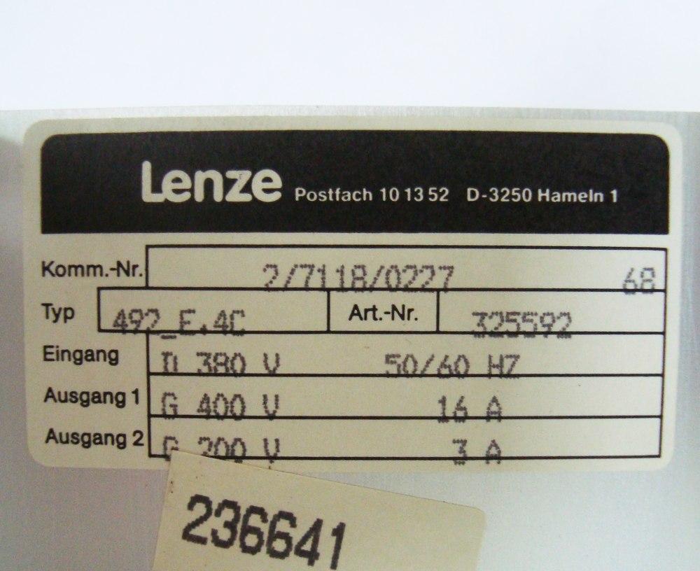 SHOP, Kaufen: LENZE 492_E.4C DC-DRIVE