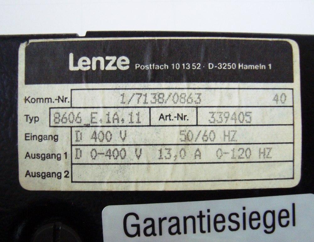 SHOP, Kaufen: LENZE 8606_E.1A.11 FREQUENZUMFORMER