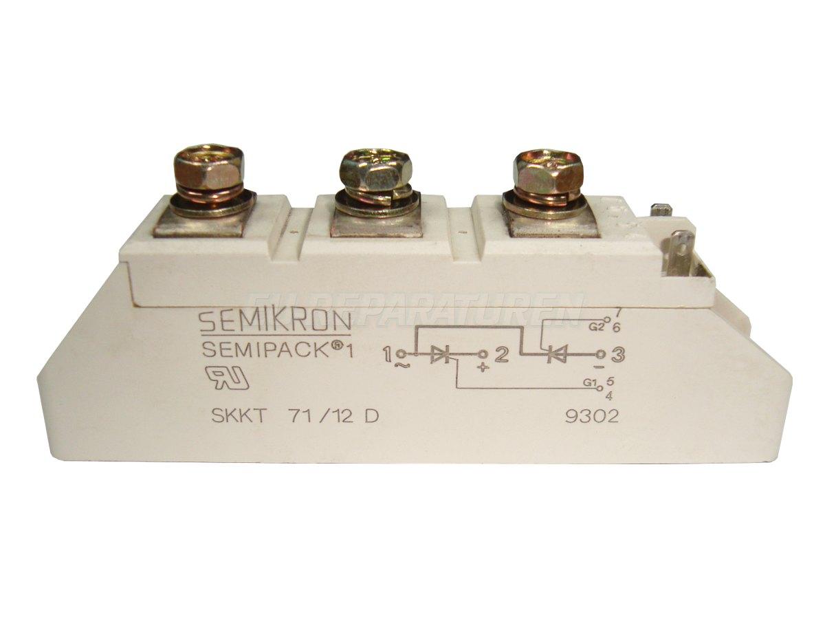 Weiter zum Artikel: SEMIKRON SKKT71/12D THYRISTOR MODULE