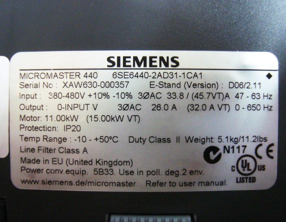 SHOP, Kaufen: SIEMENS 6SE6440-2AD31-1CA FREQUENZUMFORMER