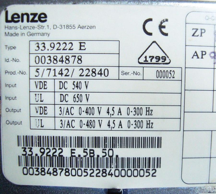 SHOP, Kaufen: LENZE 33.9222_E FREQUENZUMFORMER