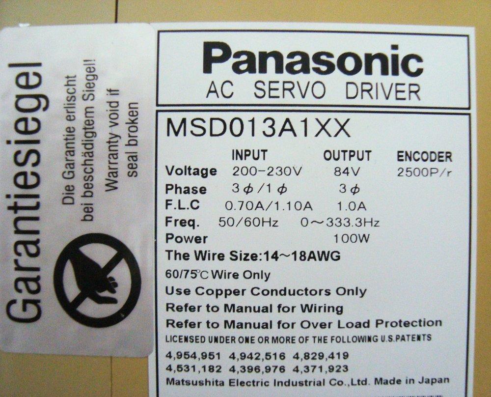 SHOP, Kaufen: PANASONIC MSD013A1XX FREQUENZUMFORMER