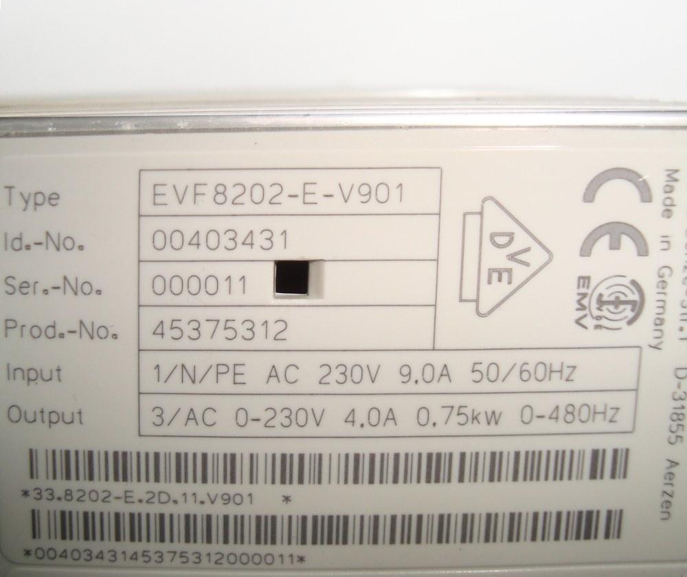 VORSCHAU: LENZE EVF8202-E-V901 FREQUENZUMFORMER