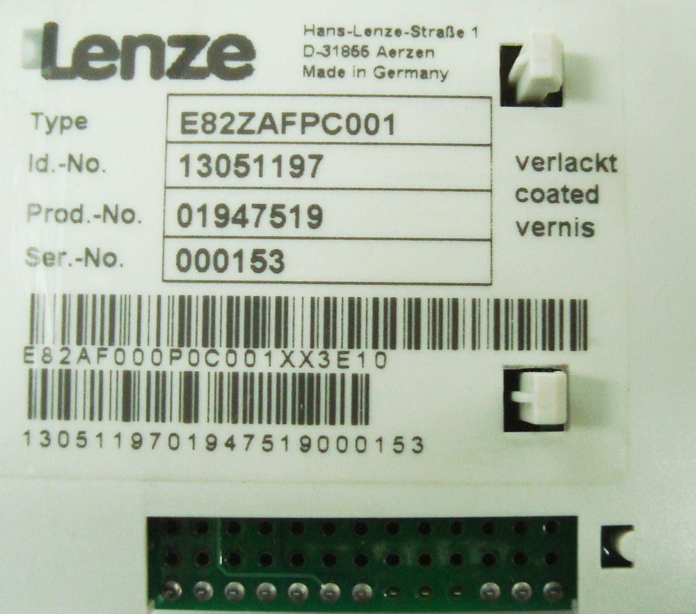 VORSCHAU: LENZE E82ZAFPC001 BEDIENPANEL