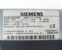 4 TYPENSCHILD 6SE3112-1CA40 MICRO-MASTER