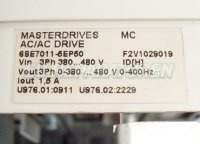 4 TYPENSCHILD SIEMENS 6SE7011-5EP50-Z MASTERDRIVES