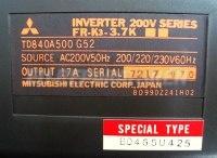 4 TYPENSCHILD FR-K3-3.7K SPECIAL TYPE BD465U425