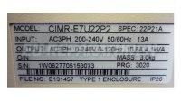 4 TYPENSCHILD CIMR-E7U22P2