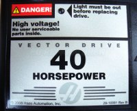 4 VECTOR DRIVE 93-32-5558A HAAS 40 HORSEPOWER