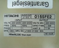 4 TYPENSCHILD J100-015SFE2