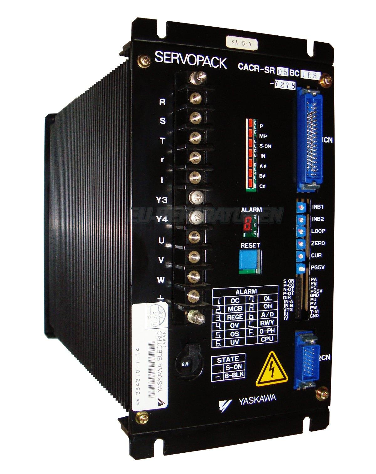 Reparatur Yaskawa CACR-SR05BC1ES-Y278 AC DRIVE