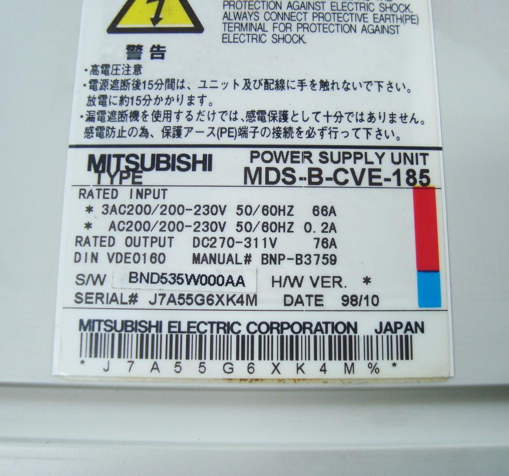 Reparatur Mitsubishi MDS-B-CVE-185 POWER SUPPLY