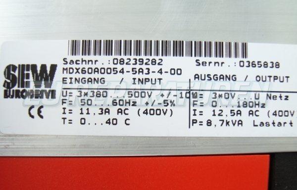SHOP, Kaufen: SEW EURODRIVE MC07A055-5A3-4-00 FREQUENZUMFORMER