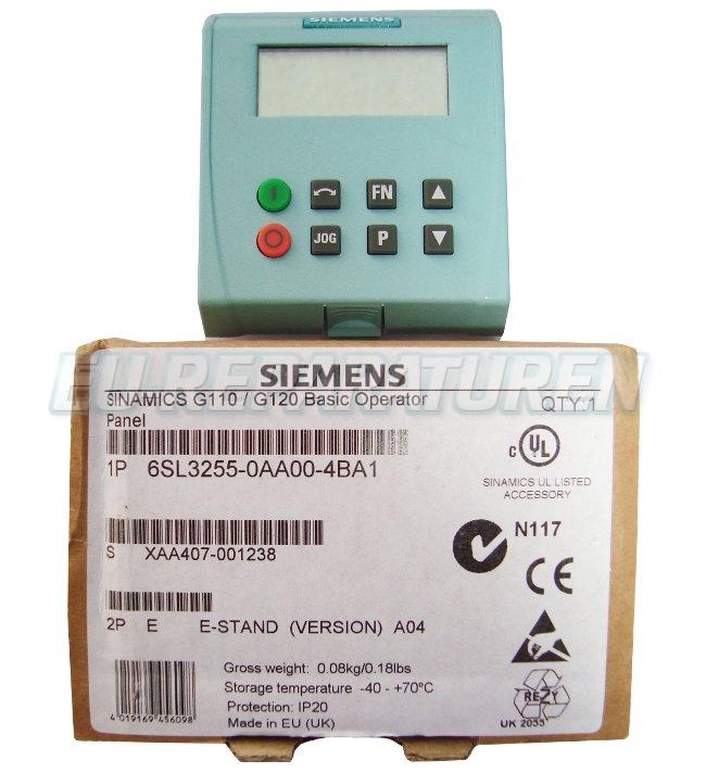 SHOP, Kaufen: SIEMENS 6SL3255-0AA00-4BA BEDIENPANEL