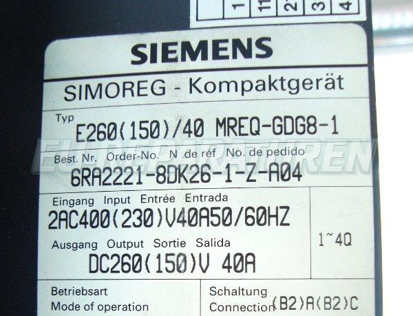 SHOP, Kaufen: SIEMENS 6RA2221-8DK26 DC-DRIVE