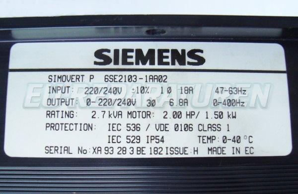 SHOP, Kaufen: SIEMENS 6SE2103-1AA02 FREQUENZUMFORMER