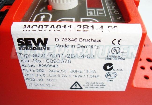SHOP, Kaufen: SEW EURODRIVE MC07A011-2B1-4-00 FREQUENZUMFORMER