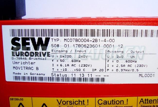 SHOP, Kaufen: SEW EURODRIVE MC07B0004-2B1-4-0 FREQUENZUMFORMER