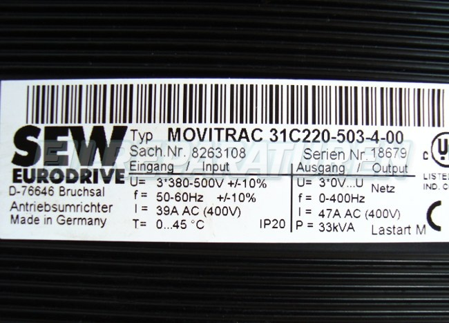 SHOP, Kaufen: SEW EURODRIVE 31C220-503-4-00 FREQUENZUMFORMER
