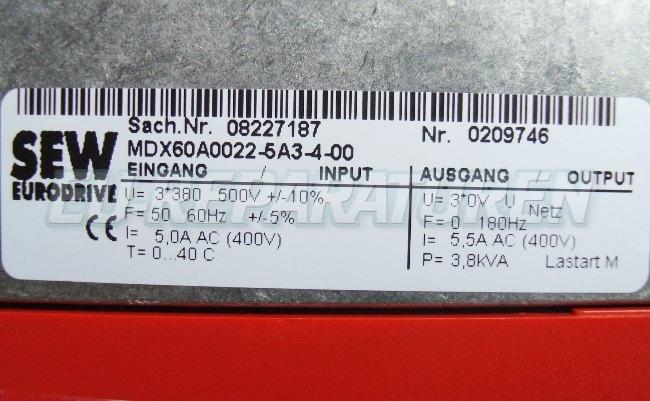 SHOP, Kaufen: SEW EURODRIVE MDX60A0022-5A3-4- FREQUENZUMFORMER