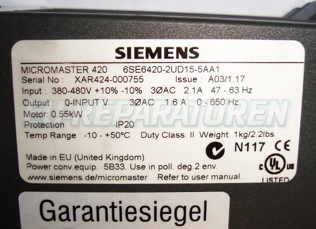 SHOP, Kaufen: SIEMENS 6SE6420-2UD15-5AA FREQUENZUMFORMER