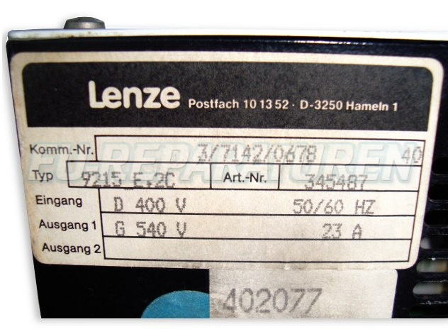 VORSCHAU: LENZE 9215_E.2C POWER SUPPLY