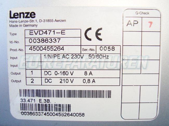 SHOP, Kaufen: LENZE EVD471-E DC-DRIVE