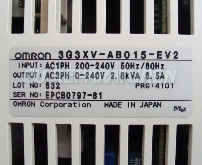 SHOP, Kaufen: OMRON 3G3XV-AB015-EV2 FREQUENZUMFORMER