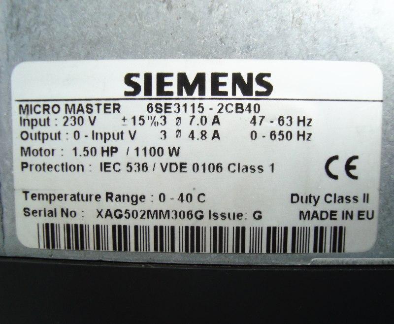 SHOP, Kaufen: SIEMENS 6SE3115-2CB40 FREQUENZUMFORMER
