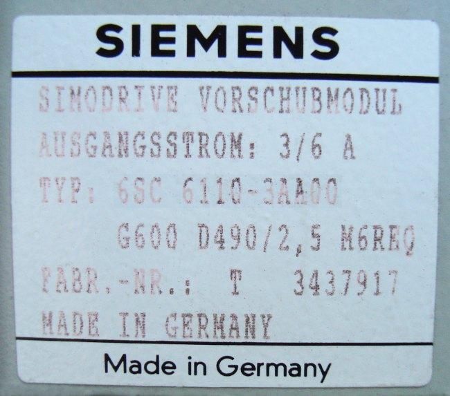 SHOP, Kaufen: SIEMENS 6SC6110-3AA00 FREQUENZUMFORMER