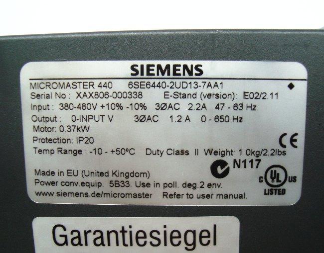 SHOP, Kaufen: SIEMENS 6SE6440-2UD13-7AA FREQUENZUMFORMER