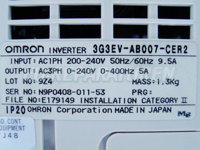 Weiter zum Artikel: OMRON 3G3EV-AB007-CER2 FREQUENZUMFORMER