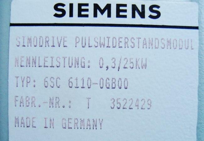 SHOP, Kaufen: SIEMENS 6SC6110-0GB00 BREMSEINHEIT