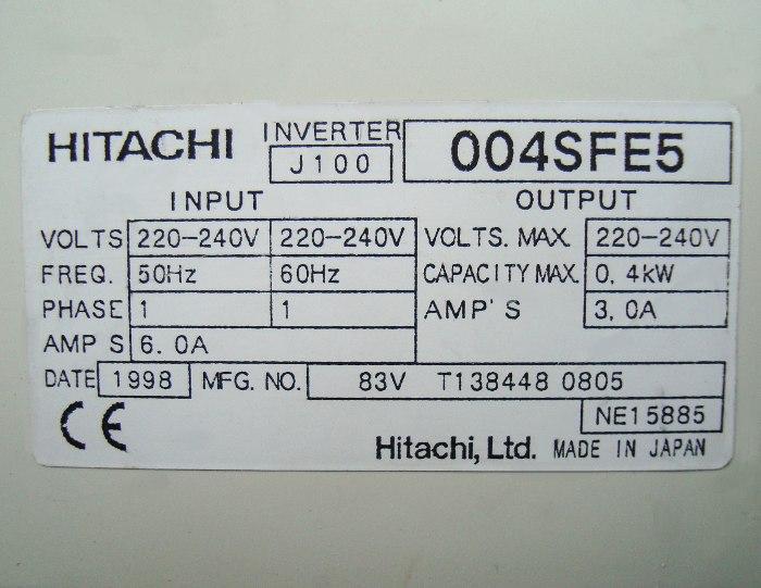 VORSCHAU: HITACHI J100-004SFE5 FREQUENZUMFORMER
