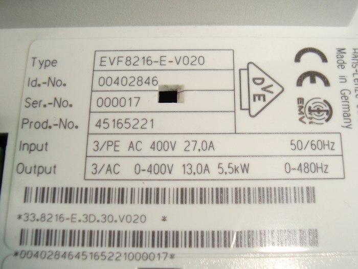 SHOP, Kaufen: LENZE EVF8216-E-V020 FREQUENZUMFORMER