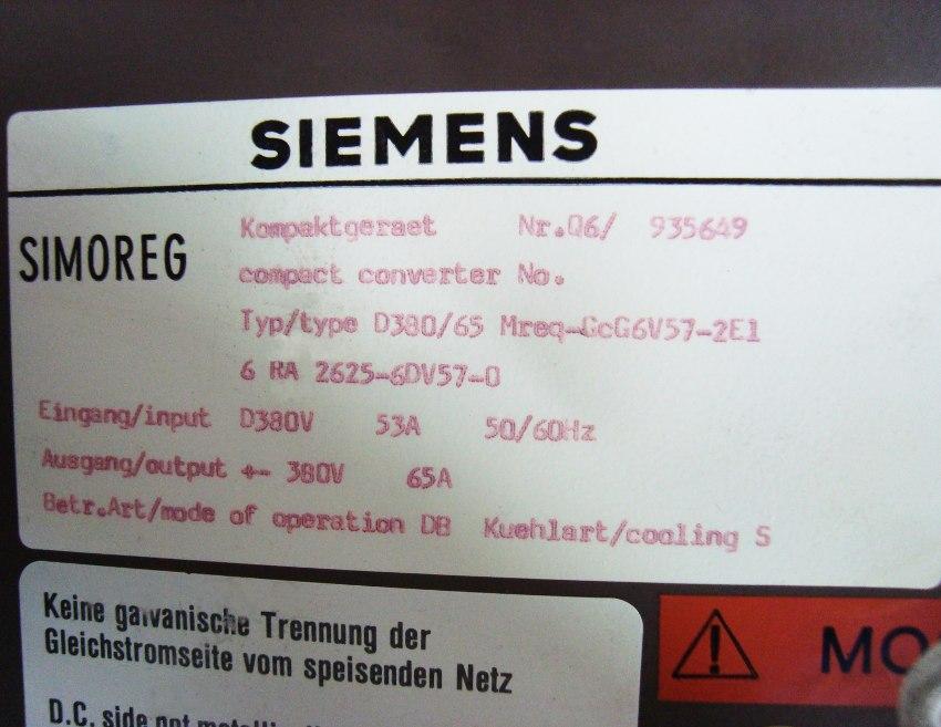 SHOP, Kaufen: SIEMENS 6RA2625-6DV57-0 DC-DRIVE