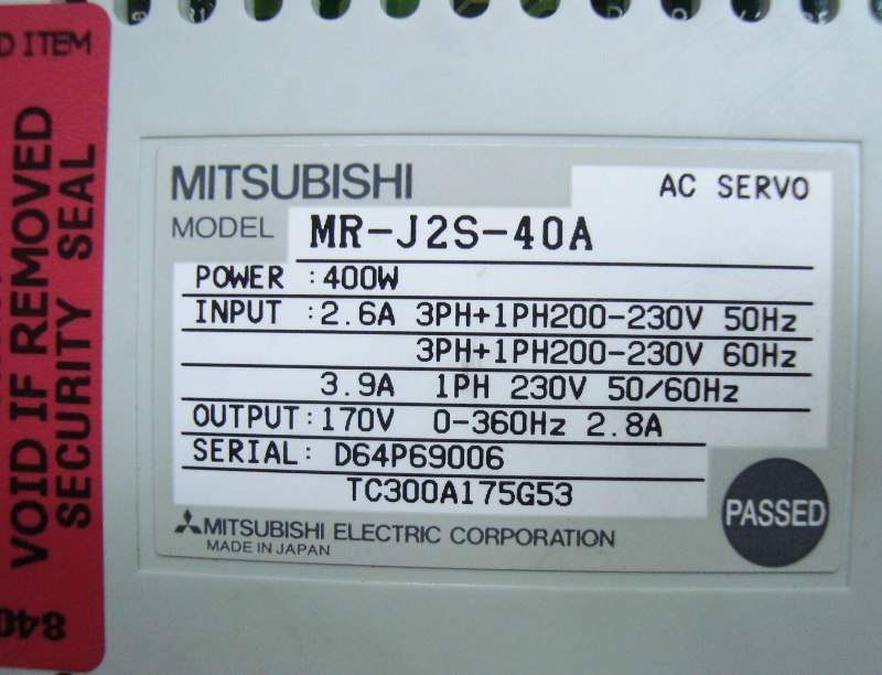 SHOP, Kaufen: MITSUBISHI ELECTRIC MR-J2S-40A FREQUENZUMFORMER
