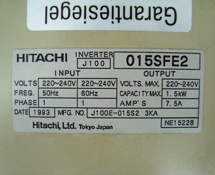 SHOP, Kaufen: HITACHI J100-015SFE2 FREQUENZUMFORMER