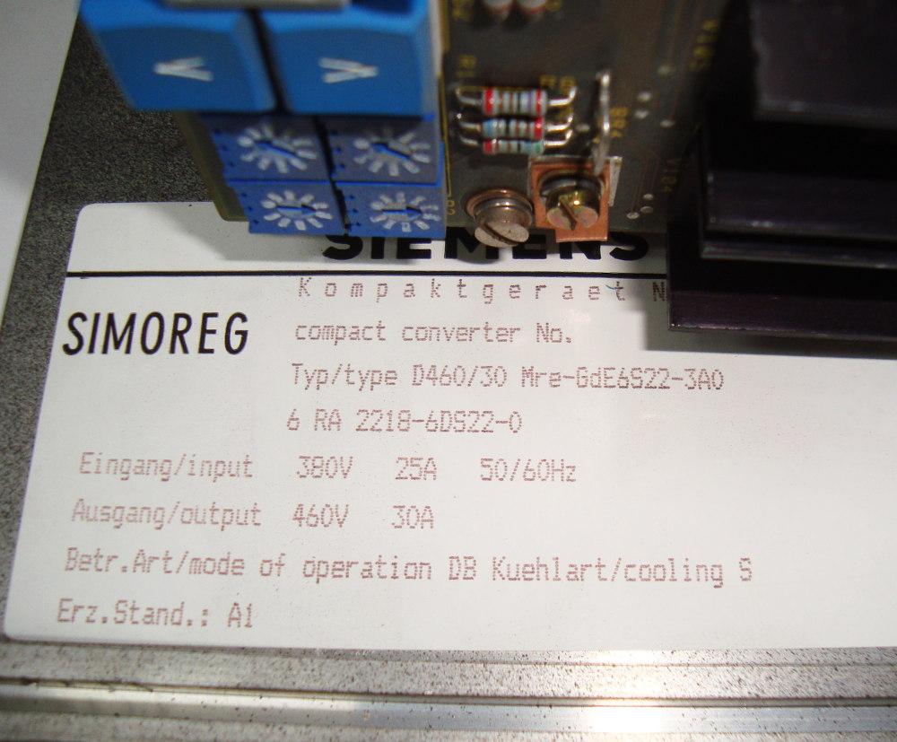 SHOP, Kaufen: SIEMENS 6RA2218-6DS22-0 DC-DRIVE