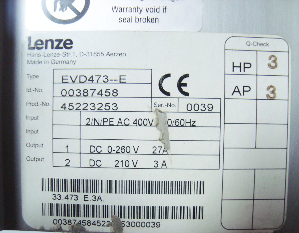 SHOP, Kaufen: LENZE EVD473-E DC-DRIVE