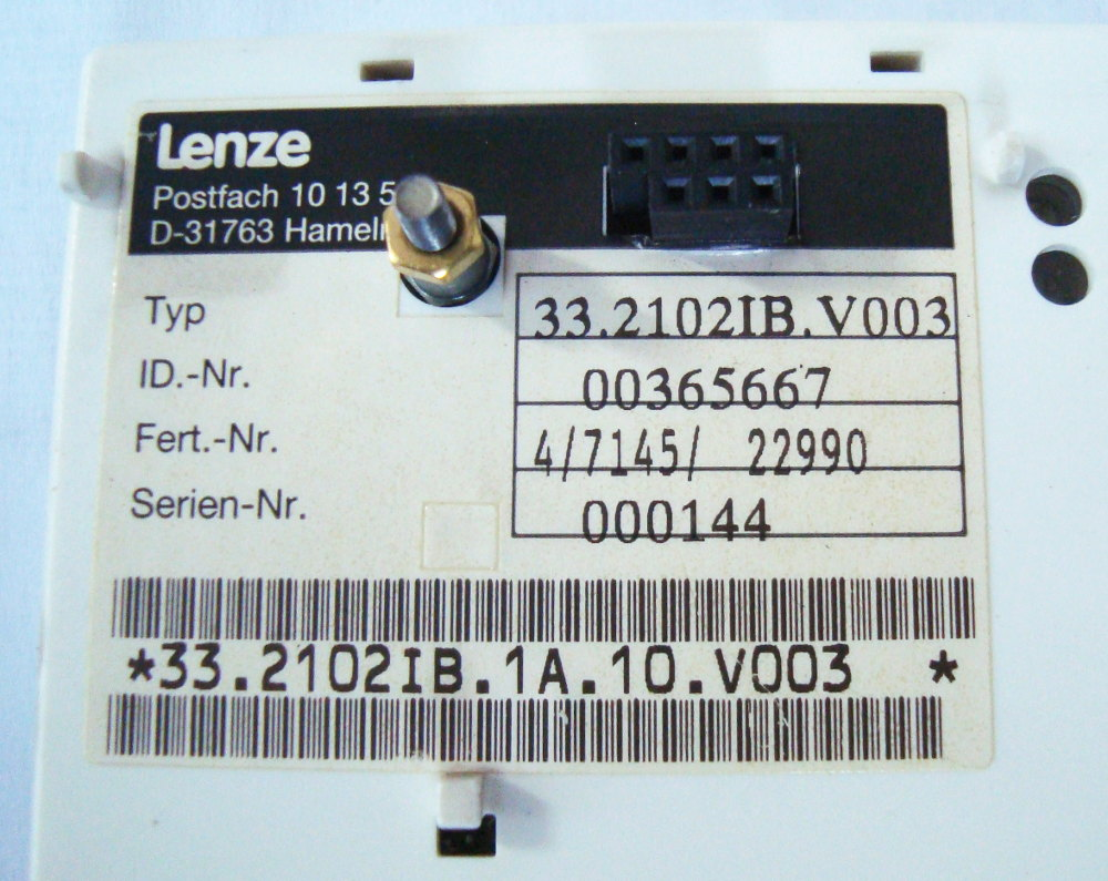 SHOP, Kaufen: LENZE 33.2102IB.V003 BEDIENPANEL