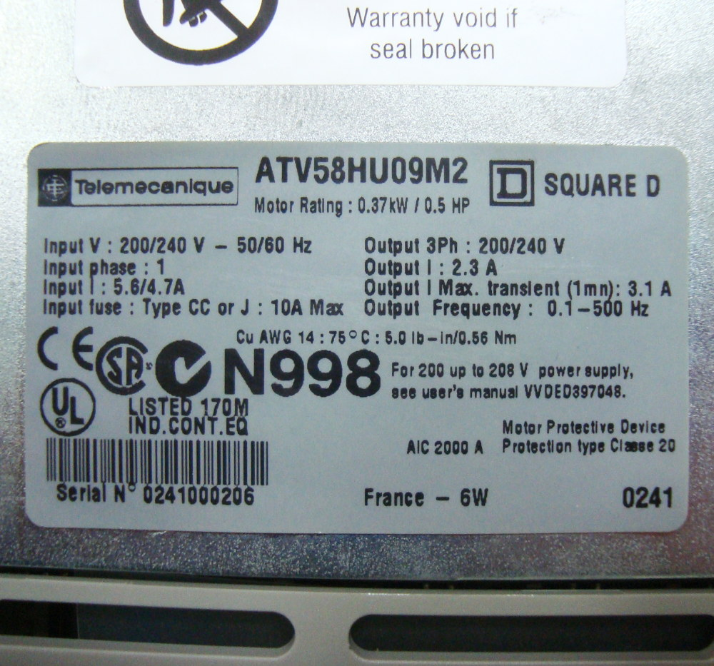 SHOP, Kaufen: TELEMECANIQUE ATV58HU09M2 FREQUENZUMFORMER